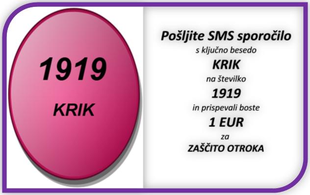 GUMB - SMS DONACIJA - VIOLA